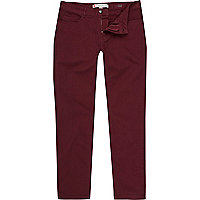 Dark red Sid stretch skinny jeans