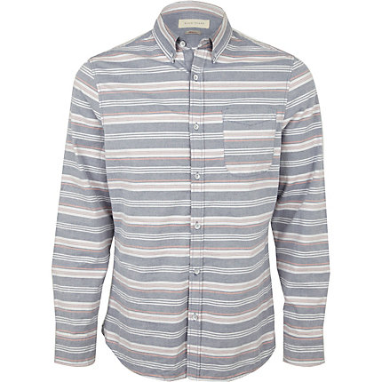 Blue stripe oxford shirt