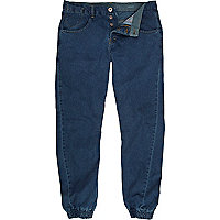 Dark denim twist seam jogger jeans