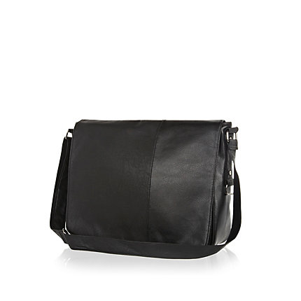 Black flap over bag