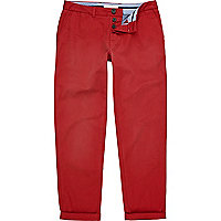 Red sprayed chinos