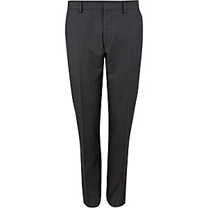 Navy slim suit pants