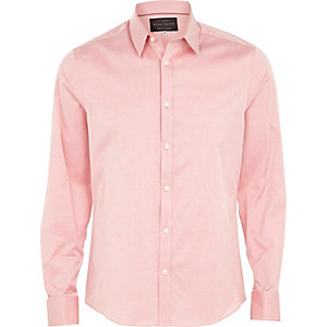 Pink double cuff shirt