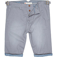 Light blue twist seam shorts
