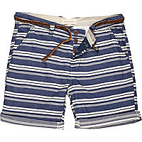 Blue horizontal stripe shorts