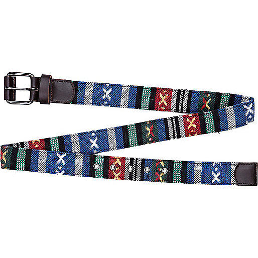 Navy aztec belt