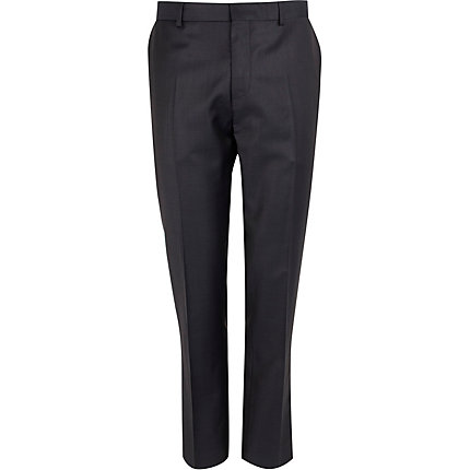 Navy slim contrast trousers