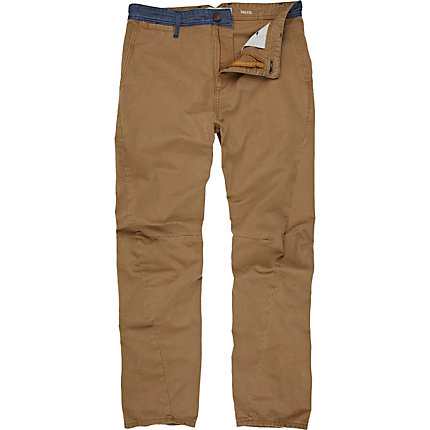 Brown twist seam chinos
