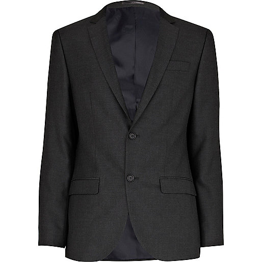 Charcoal grey slim suit jacket