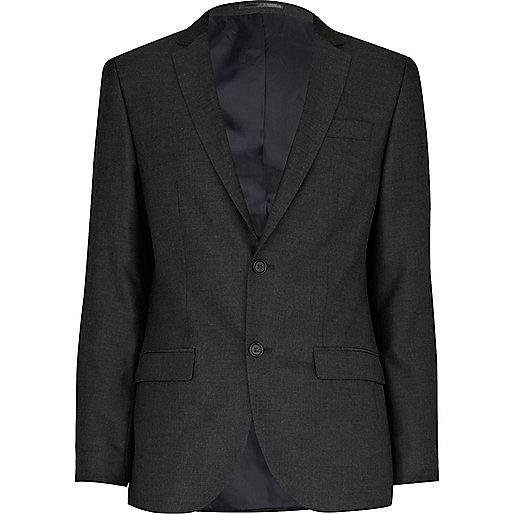 Charcoal grey slim suit jacket