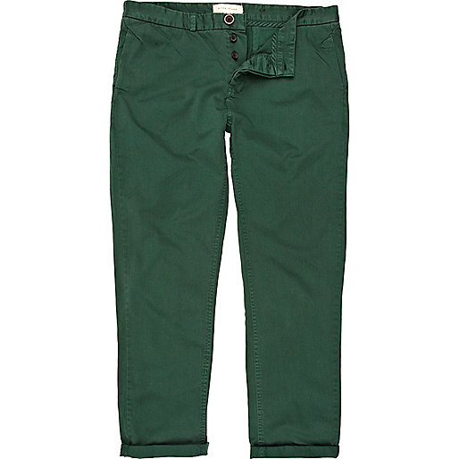 Green slim chinos