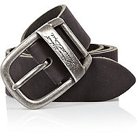 Black signature detail belt