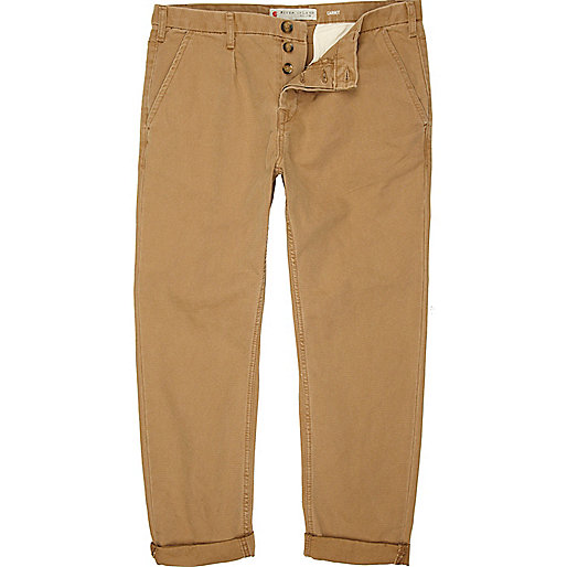 Tan carrot fit chinos