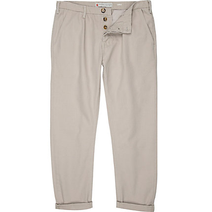 Light grey carrot chinos