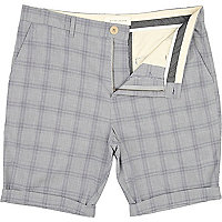 Light blue check shorts