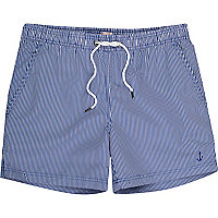 Blue stripe swim shorts
