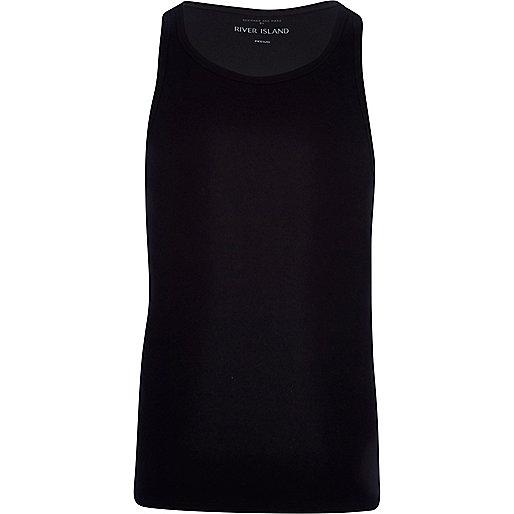 Black rib vest