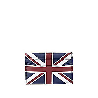 Blue union jack card holder