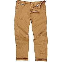 Brown twist seam trousers