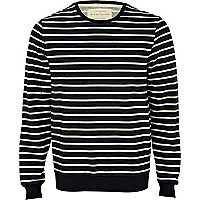Navy stripe sweatshirt
