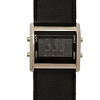 Black cuff digital watch