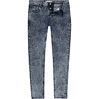 Acid wash Sid skinny stretch jeans