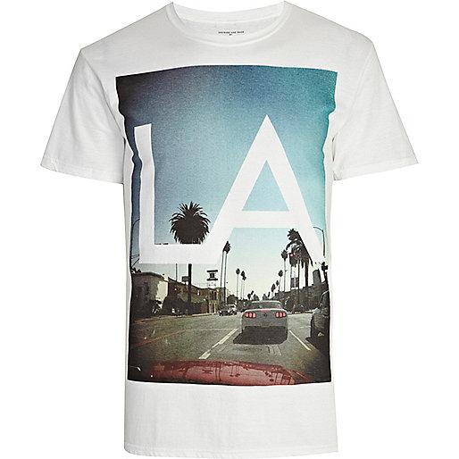 White LA print t-shirt
