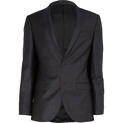 Navy slim suit jacket