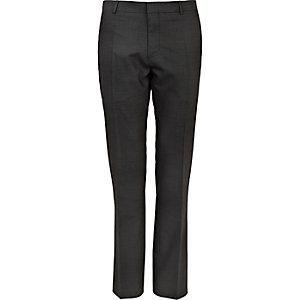 Grey contrast slim suit trousers
