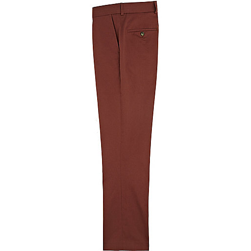 Red berry slim trousers