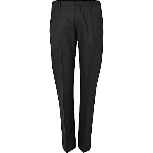 Grey classic suit trousers