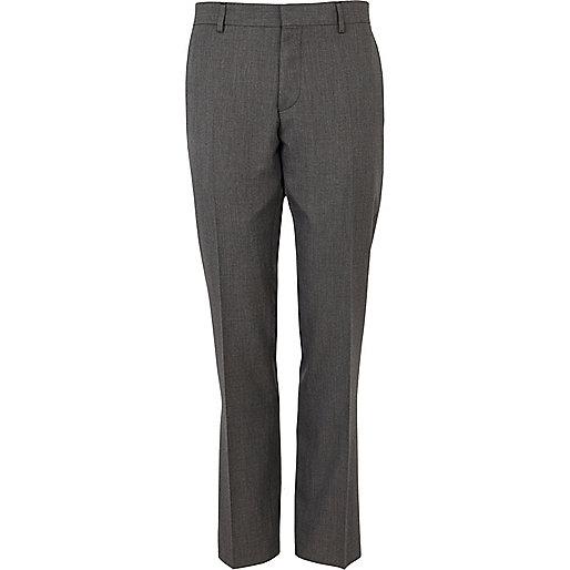 Grey slim suit pants