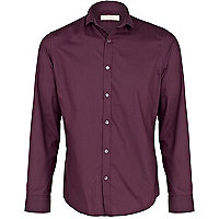 Purple poplin shirt