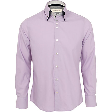 Lilac double collar shirt
