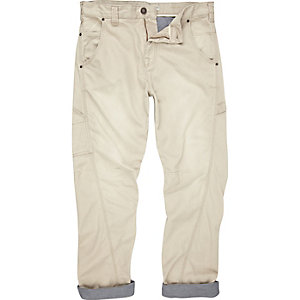 Stone carpenter twist seam trousers