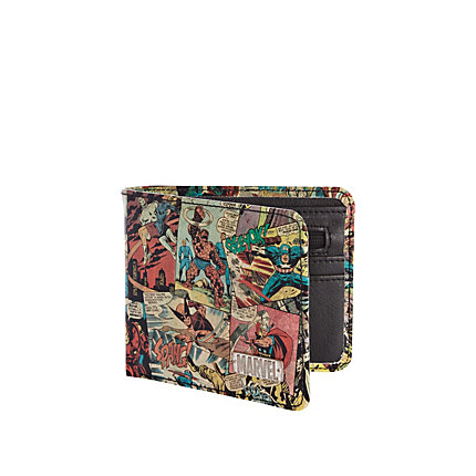 Black marvel print wallet