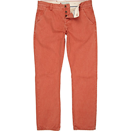 Orange slim trousers