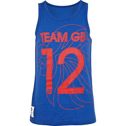 Blue team GB print vest