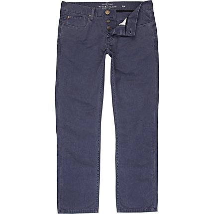 Mid blue slim trousers