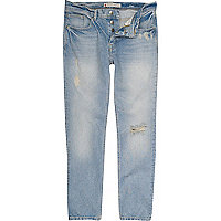 Light wash denim skinny flynn jeans