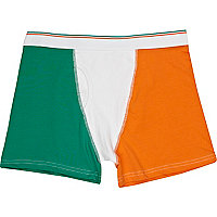 White ireland flag boxer