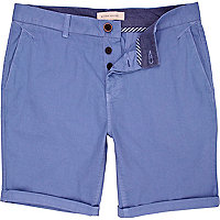 Light blue roll leg shorts