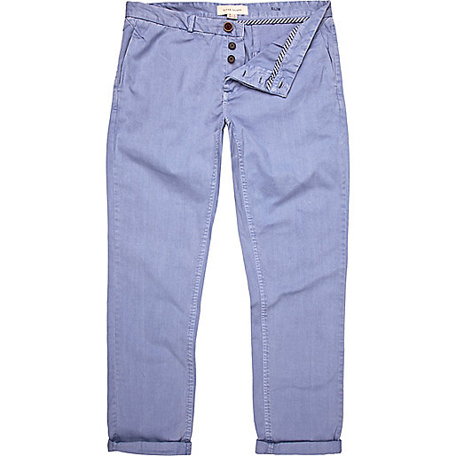 Pastel blue slim chinos