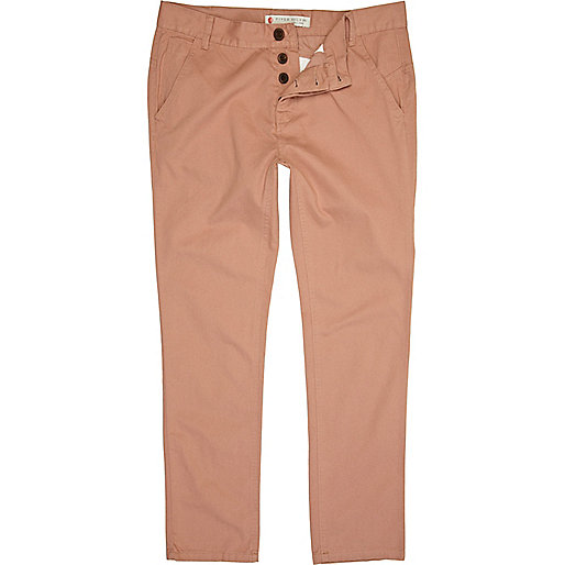 Washed pink trousers
