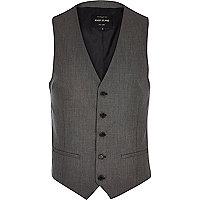 Grey slim waistcoat