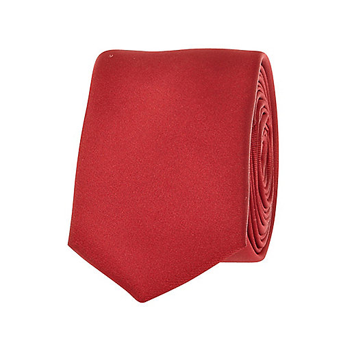 Bright red tie
