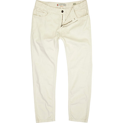 White stretch skinny sid jeans