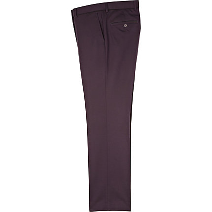Purple smart trousers