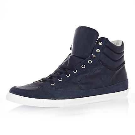Navy sports high tops