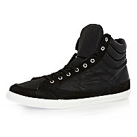Black sports high tops
